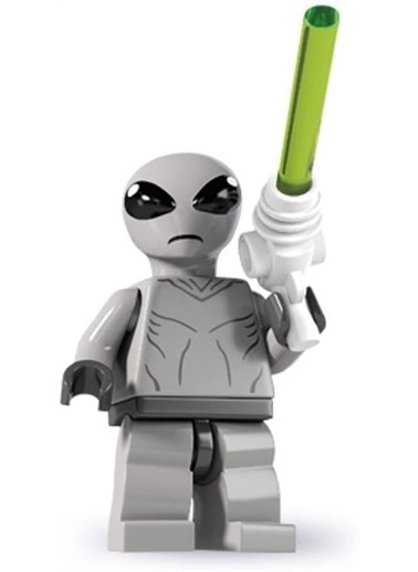 Lego Lego Minifigür - Seri 6 - 8827 - Classic Allien Renkli